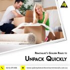 An Interstate Removalist & Golden Rules to Unpack Quickly